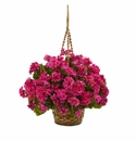 Geranium Hanging Basket Artificial Plant UV Resistant (Indoor/Outdoor) - Beauty