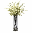 "38"" Giant Artificial Cherry Blossom Flower Arrangement in Vase - White"