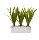 "16"" Artificial Grass in Rectangular Planter Arrangement"