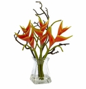 "17"" Artificial Heliconia in Glass Vase"