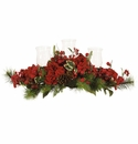"13"" Artificial Hydrangea Holiday Candelabrum"