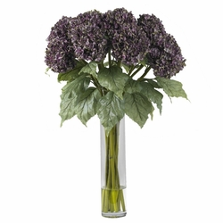 Hydrangea silk flower arrangement purple flowers in 31 hydrangea silk flower arrangement mightylinksfo