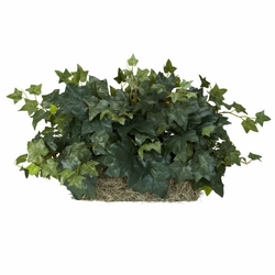 "14"" Ivy Set on Foam Sheet Silk Plant"