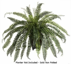 "41"" large artificial fishtail fern bush - non potted - artificial ferns"