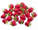 Large Artificial Strawberries 1 Bag - 1.75""