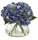 """9"""" Large Blooming Hydrangea with Vase in Blue Color"""