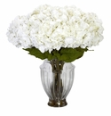 "30"" Large Hydrangea with European Vase Silk Flower Arrangement"