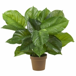 "23"" Large Leaf Philodendron Silk Plant (Real Touch)"
