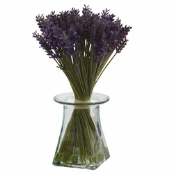 "11.5"" Artificial Lavender Bundle Arrangement with Vase"