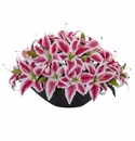 Lily Centerpiece Artificial Floral Arrangement - Beauty