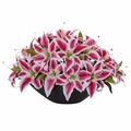 "4.5"" Lily Centerpiece Artificial Floral Arrangement - Beauty"
