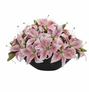 Lily Centerpiece Artificial Floral Arrangement - Pink