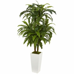 "50"" Marginatum Artificial Plant in White Tower Vase"