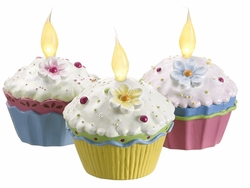 Mixed Assorted Fake Cupcakes with Light (3 ea./box) - Set of 4 Boxes