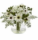 "11.5"" Medium Mixed Daisy Arrangement with Vase"