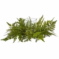 "6.5"" Mixed Artificial Fern Arrangement Candelabrum"
