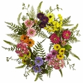 "22"" Mixed Artificial Flower Wreath - Multi Color"