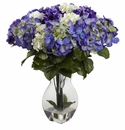 "20"" Mixed Hydrangea Silk Flower Arrangement with Vase"