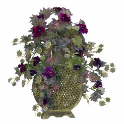 "26"" Morning Glory with Decorative Vase Silk Plant"