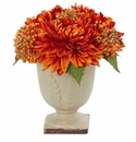 "12""  Artificial Mum Flower Arrangement - Fall"