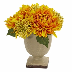 "12"" Artificial Mum Flower Arrangement"