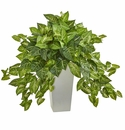 "28"" Nephthytis Artificial Plant in White Tower Planter"