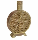 Open Weave Decorative Vase