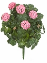 "Outdoor Artificial Geranium Flowers 26"" - Set of 4"