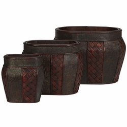 "10""-13"" Oval Decorative Planter- Set 3"