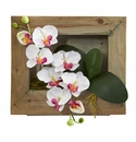 """12"""" Phalaenopsis Orchid Artificial Flower Arrangement in Wooden Picture Frame"""