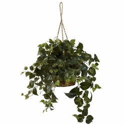 "24"" Silk Philo Hanging Basket"