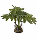 "14"" Artificial Philodendron Plant Arrangement with Vase"