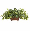 Pothos Artificial Plant in Metal Planter -