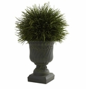 "17"" Potted Grass w/Decorative Urn (Indoor/Outdoor)"