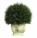 """18.5"""" Potted Grass in White Vase (Indoor/Outdoor)"""