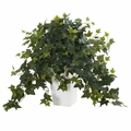 "22"" Puff Ivy Artificial Plant in White Tower Vase"