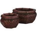 Rounded Ocatagon Decorative Planters (Set of 2)