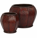 Rounded Weave Decorative Planters (Set of 2)
