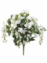 "Set of 12 - 22"" Artificial Silk Wisteria Flower Bushes x 8 Flower shoots (shown in white)"