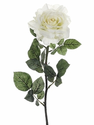 "Set of 12 - 32"" Large Artificial Silk Georgia Rose Stems (shown in cream)"
