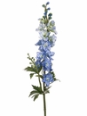"Set of 12 - 35"" Artificial Silk Delphinium Flower Spray x2 with Water-Proof Stem (shown in Delphinium Blue)"