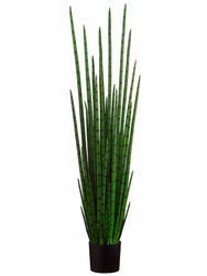 "Set of 2 - 63"" Artificial Snake Plant with 31 Lvs. in Plastic Pot"