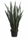 "Set of 2 - Artificial Agave Sansevieria Plants - 35"" Tall"
