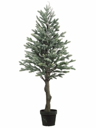 "Set of 2 - Artificial Pine Trees in Pot - 47"" Tall"