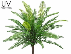 "19"" uv treated artificial fern plants - set of 12 - outdoor"