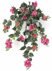 "Set of 4 - 36"" Artificial Outdoor Bougainvillea Flowers - UV Infused Lavender/Fuchsia"