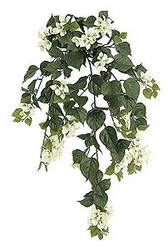"Set of 4 - 36"" Outdoor Artificial Bougainvillea Flowers - UV Infused Cream"