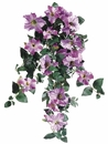 "Set of 6 - 24"" Artificial Petunia Silk Hanging Flower Bushes x 10 vines (shown in orchid)"