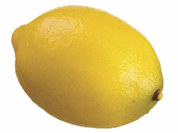 "Set of 6 - 3.3"" Artificial Lemons"