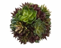 "Set of 6 - 6"" Artificial Succulent Cactus Balls for Decor"